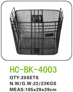 Factory Supply Black Steel Wire Bicycle Basket, Bicycle Front Basket, Basket for Folding Bicycle LC-B015