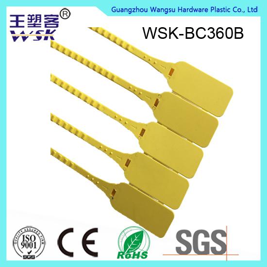 Guangzhou Plastic Seal Factory Manufacture 360mm Plastic Zip Seal