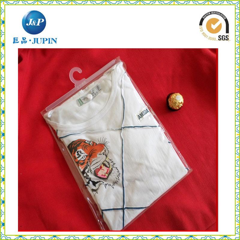PVC Garment Packing Bag with Plastic Hook & Button (JP-plastic 002)