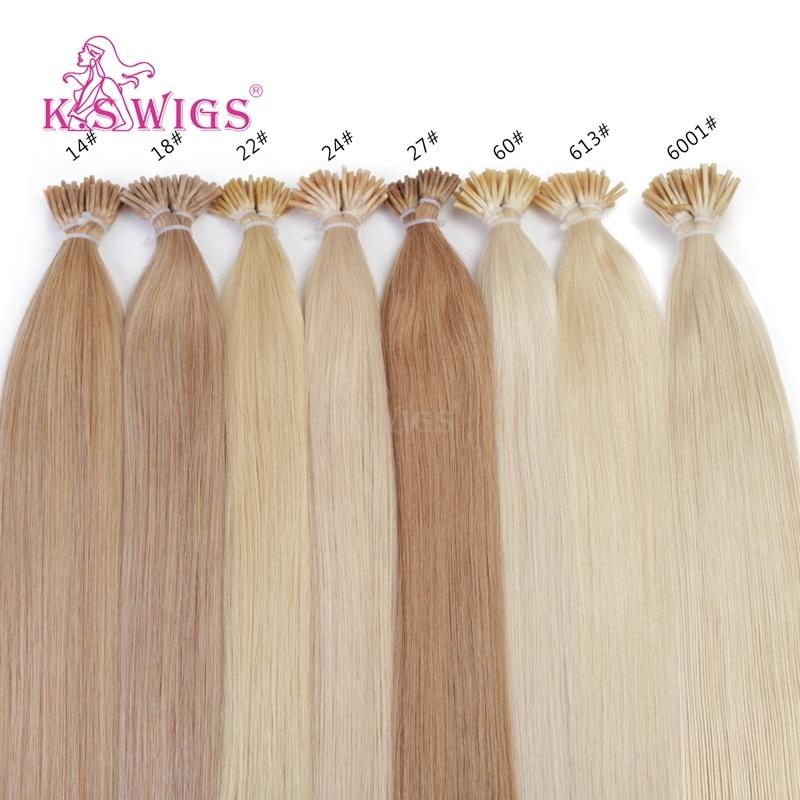K. S Wigs Hot Selling I-Tip Keratin Hair Malaysian Remy Hair Human Hair Extension