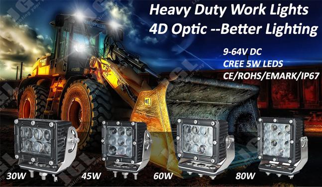 60W Heavy Duty CREE LED Truck Light 12V LED Work Light