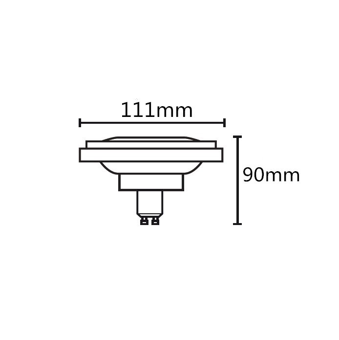 GU10-AR111, Qr111, Es111 LED Lamp, 15W, 230VAC Dimmable