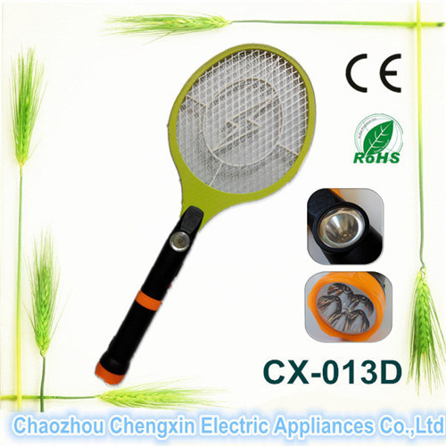 Rechargeable Electronic Mosquito Swatter with Flashlight