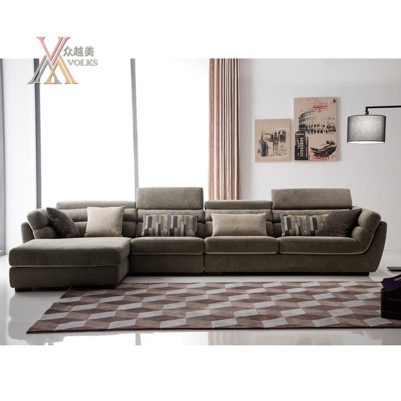 Modern Fabric Sofa Set with Adjustable Headrest (1603)