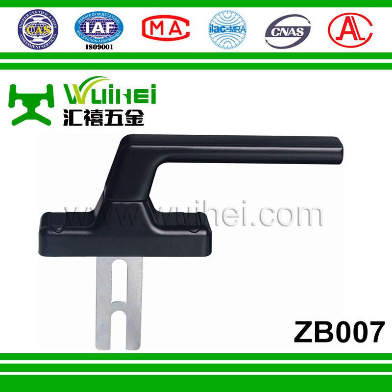 Zinc Base Aluminum Layer Single Tongue Multi Point Lock Handle for Window (ZB007)