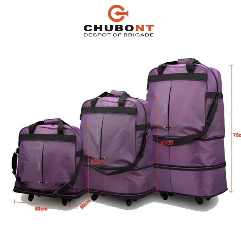Chubont Sepcial Design 3sizes Expandable Wheeled Shopping Bag