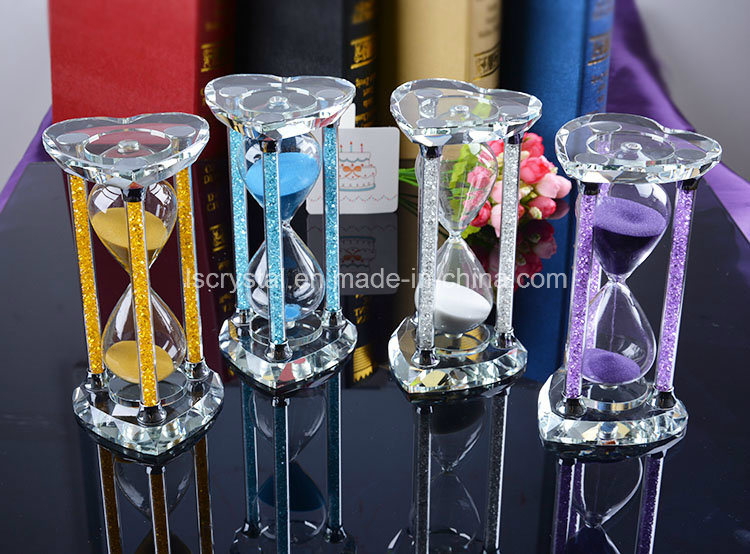 Glass Hourglass for Gifts Crystal Sand Clock for Home Decors