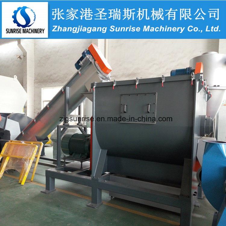 300kg-500kg/H Plastic PP PE Film Washing Line Plastic Recycling Machine