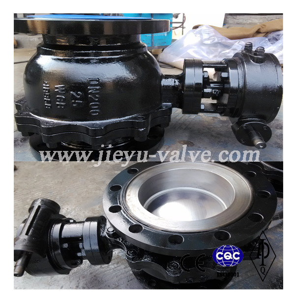 DIN Worm Operated Flanged Floating Ball Valve