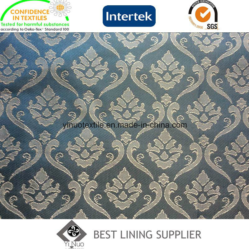 55% Polyester 45% Viscose Men′s Suit Jacquard Lining Fabric