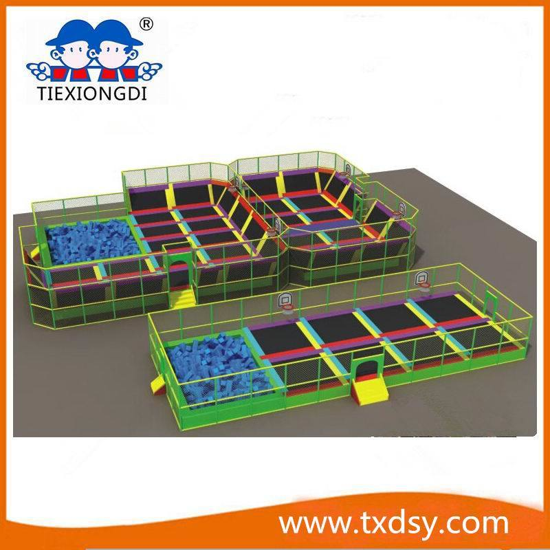 Best Play Zone-Large Trampoline Park with Foam Pit Txd16-A0783