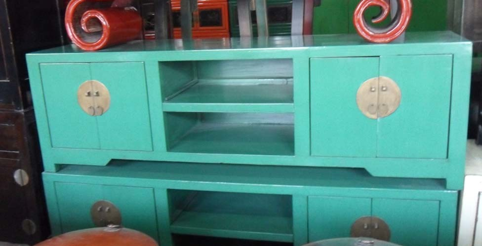 Chinese Painted Wooden TV Stand TV283