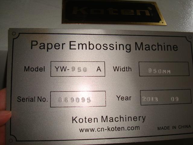 Paper Shopping Bag Embossing Machine