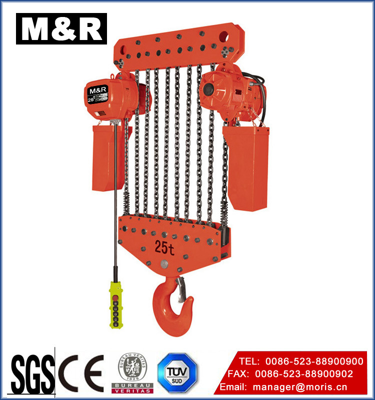 30t Fixed Type Chain Hoist /Electric Pulley with Double Speed