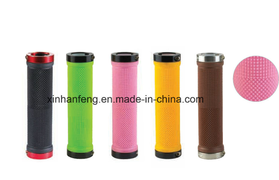 Colorful Plastic and Rubber Bicycle Grips for Mountain Bike (HGP-015)