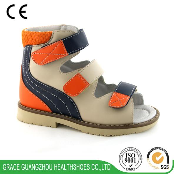 Colorful Kids Corrective Sandal Children Orthopedic Leather Sandal Could Do Anti-Varus Model