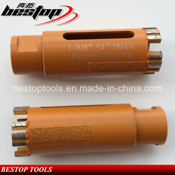 D35mm Vacuum Brazed Diamond Core Drill Bit Dry for Granite