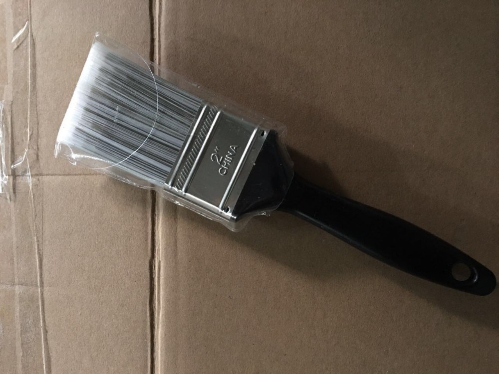 Pet Painting Brushes with Black Plastic Handle Paint Brush