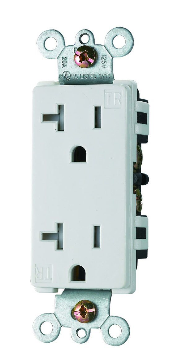 American Style Receptacle, 20A 125V, UL/cUL. Tamper Resistant