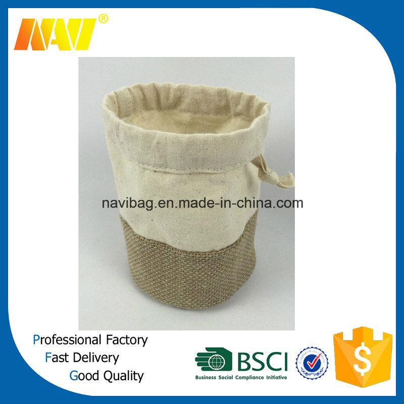 Cotton and Jute Drawstring Gift Bag