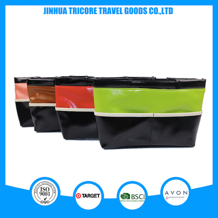 2017 New Item of Matching Color PU Cosmetic Bag Beauty Bag