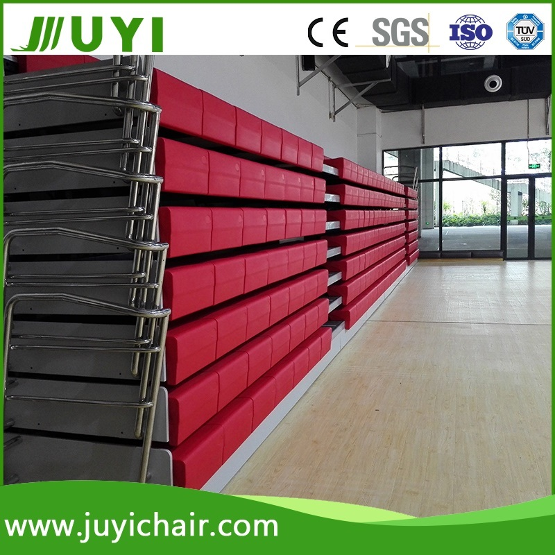 Jy-750 China Supplier Telescopic HDPE Stadium Seating Bleacher Gym Bleacher