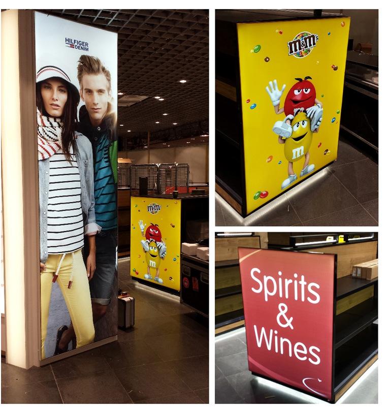 Frameless Fabric LED Light Box for Shopping Mall Advertisement