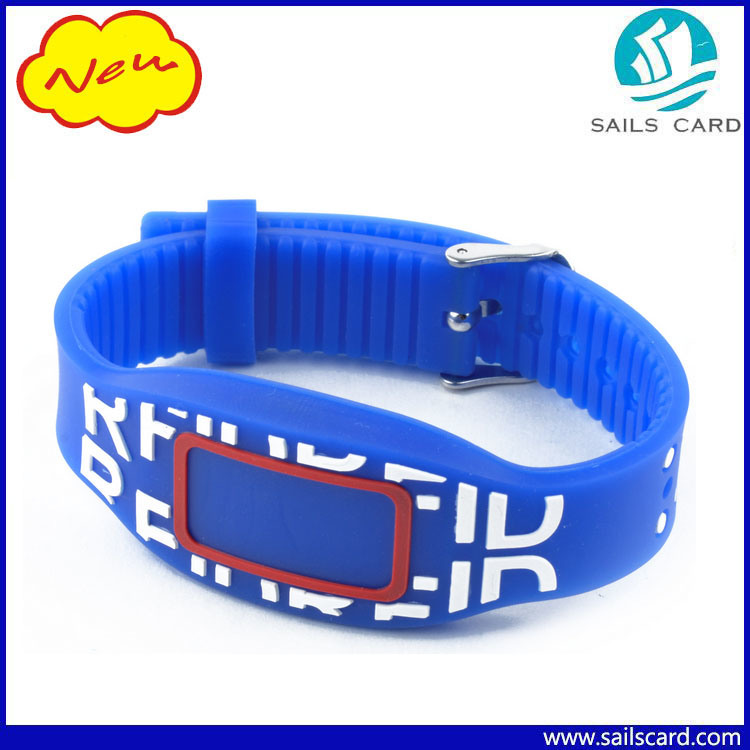 13.56MHz 1k Silicone RFID Wristband for Event/Party/Hotel and Gift