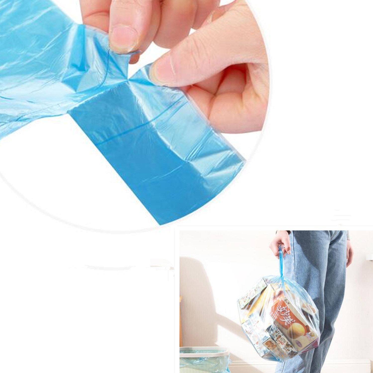 PE Eco-Friendly Recycle 13 Gallon Trash Bag Embossed Disposable Garbage Bag