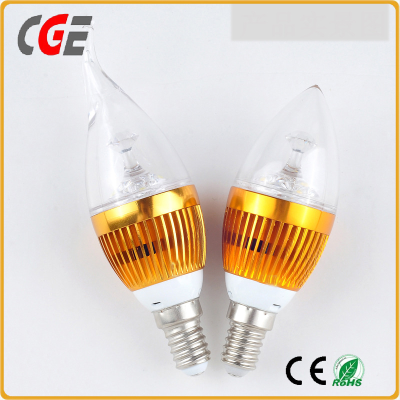 Flame Shape E12 6W LED Candle Light Bulb