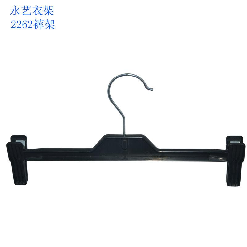 Brand Fashion Shop Display Clips Black Plastic Velvet Pants Hangers