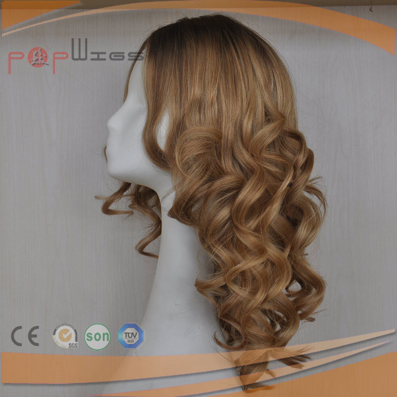 Full European Goden Blonde Hair Comfortale Medical Wig for Hair Lose Patients