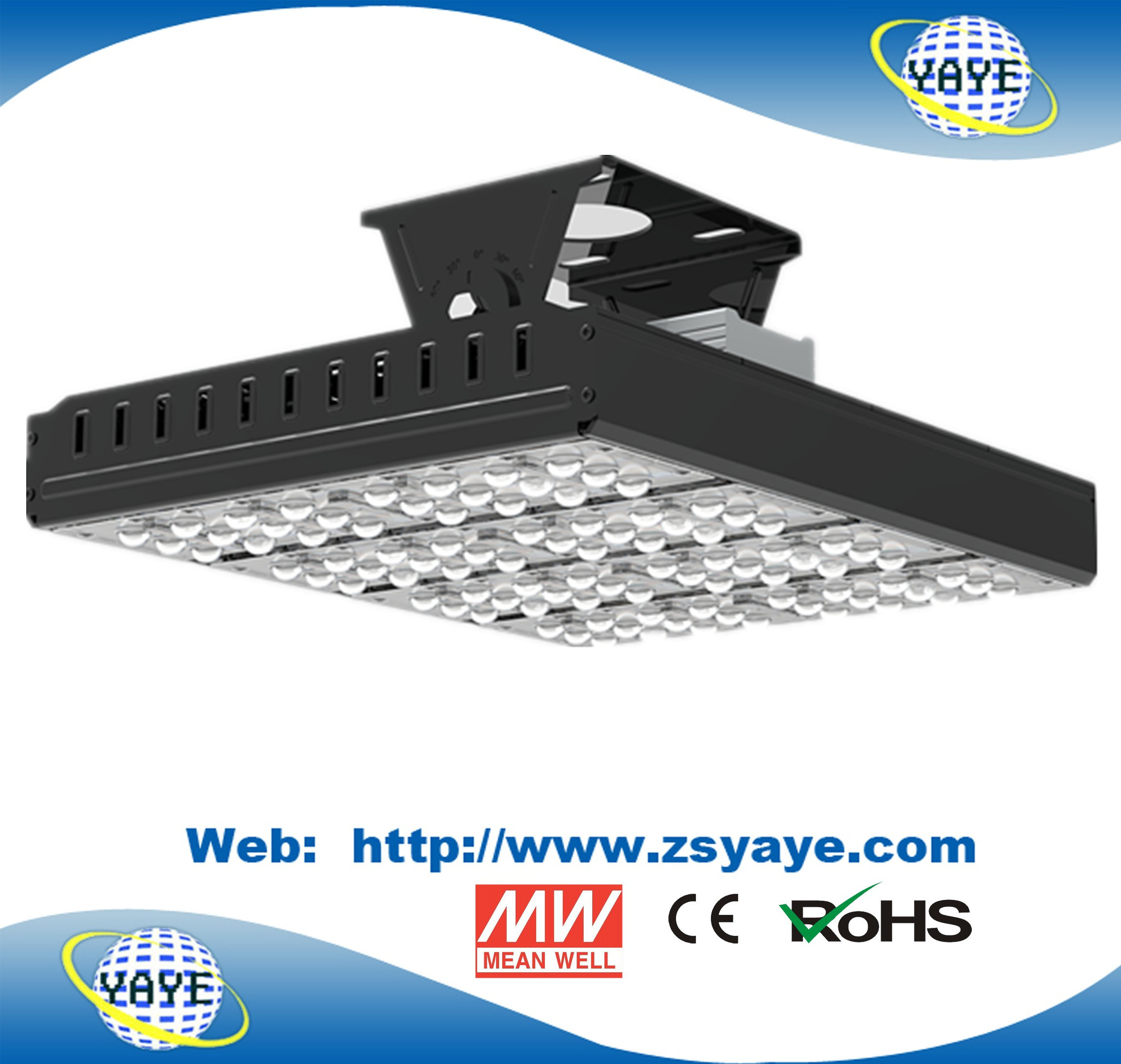 Yaye 18 Osram LED Chips / Meanwell Driver Ce/RoHS Modular 100W LED Flood Lights /100W LED Floodlight with 5 Years Warranty