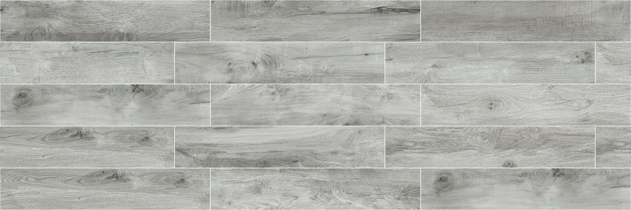 High Quality Building Material Porcelain Wood Tile Floor Tile Lnc2012019 Grey