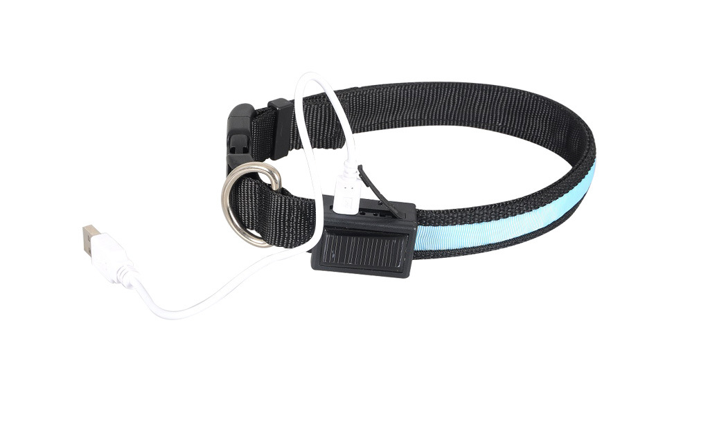 Solar & USB Rechargeable LED Light Dog Collar