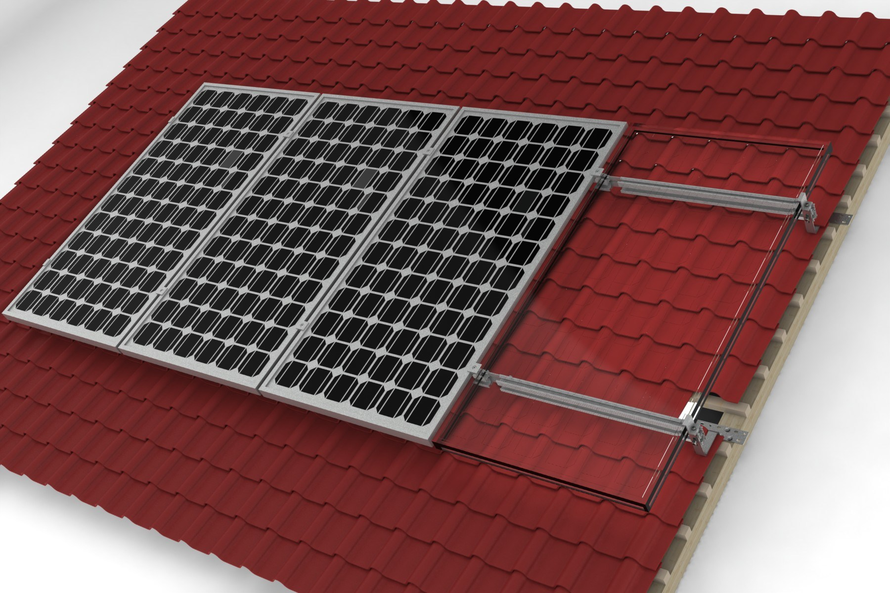 Home Use Tile Roof Solar System Mounting Brackets