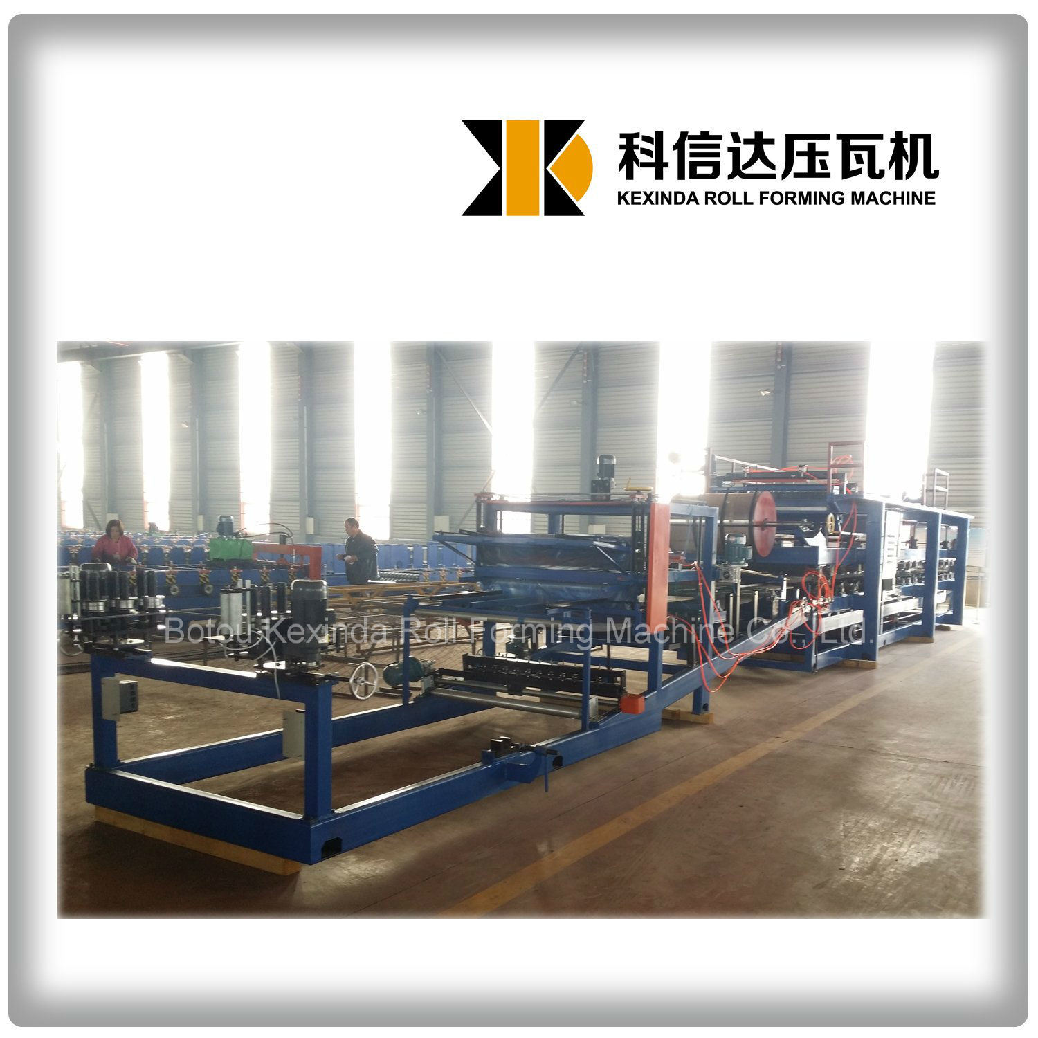 EPS/Rock Wool Sandwich Roof Panel Roll Forming Machine Sandwich Panel Production Line