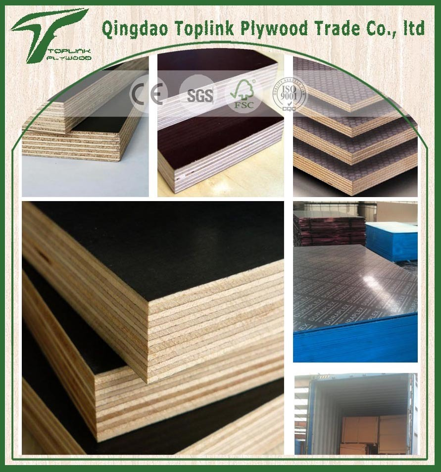 Construction Marine Plywood / Film Faced Plywood / Shuttering Plywood with Poplar Core, WBP Glue
