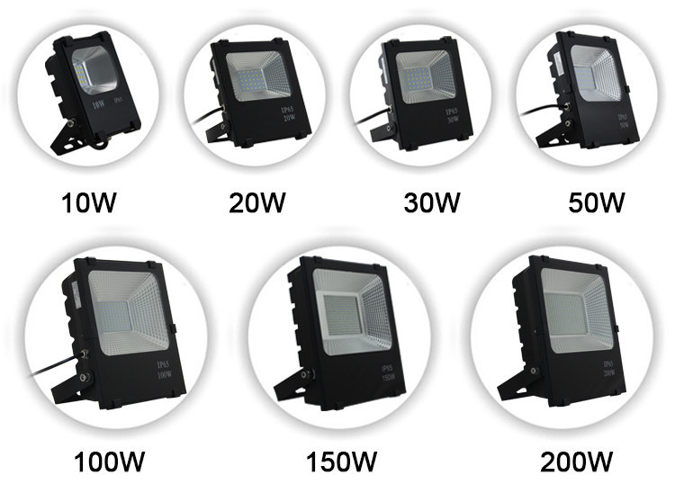 IP65 Outdoor 100W 150W 200W LED Flood Light Ce RoHS Approved Waterproof, High Lumens, Reliable Quality, Park Landscape Lighting Hotel Lighting, Outdoor Light