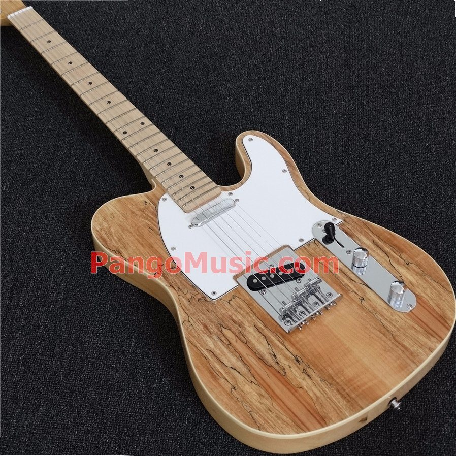 Pango Music Tele Style Electric Guitar with Spalted Maple Top (PTL-523)