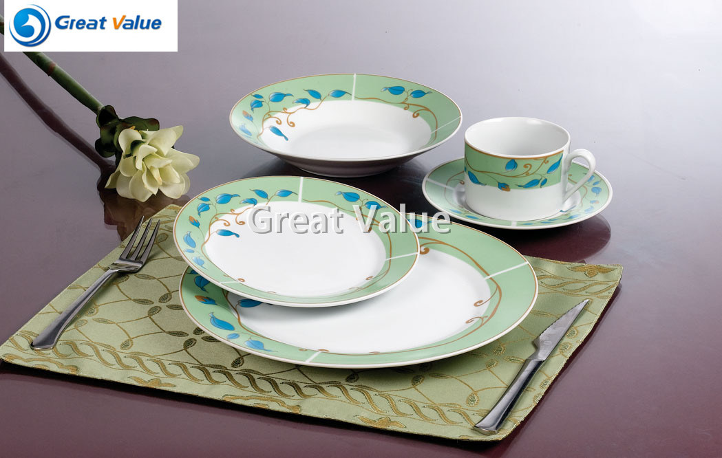 20PCS Porcelain Decal Dinner Set