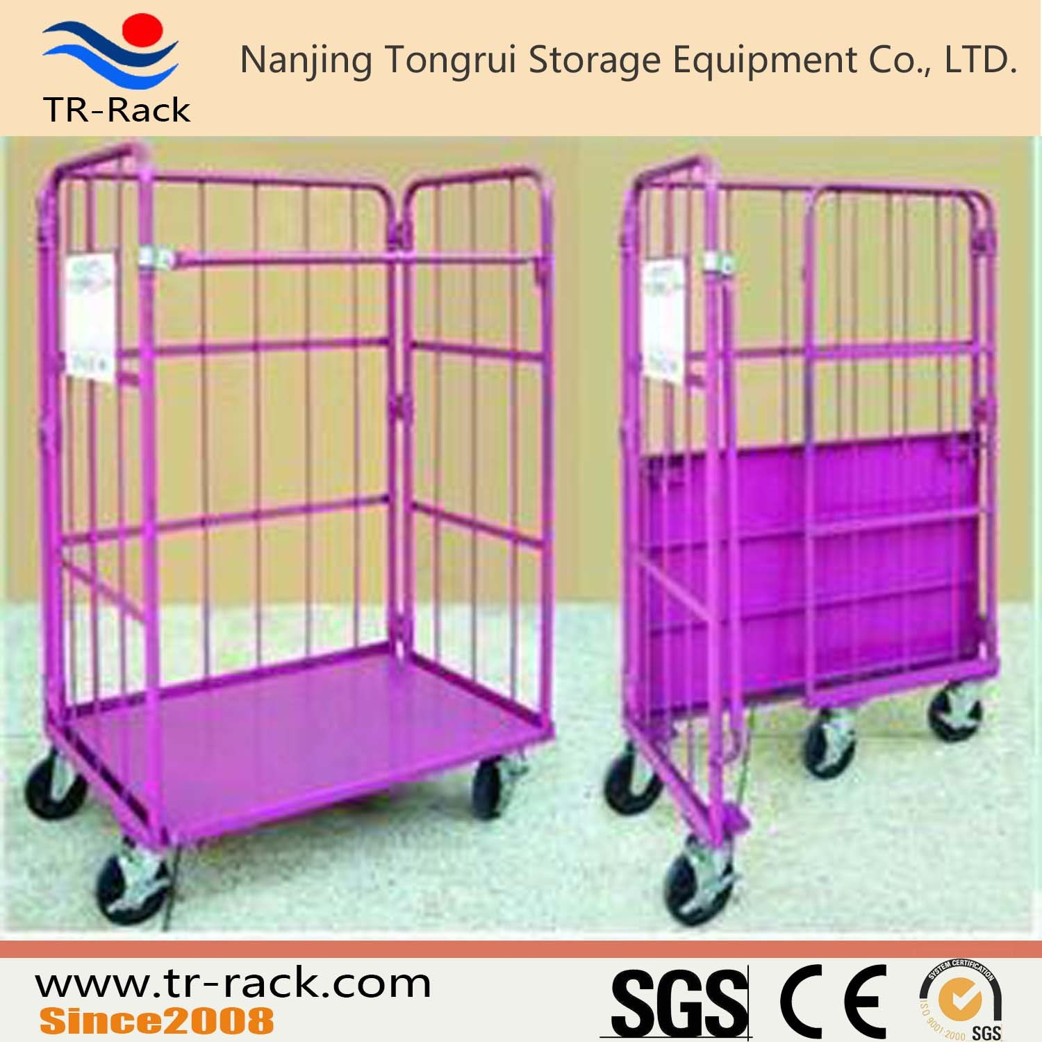 Strong Logistic Table Trolley Cart with 4 Caster Wheels
