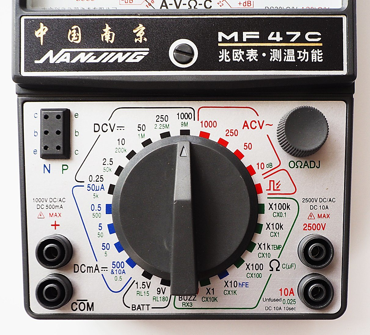 High Quality Analog Panel Multimeter (MF47C) with ISO Certified