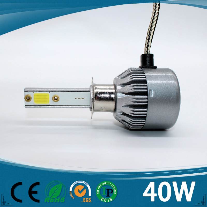 Factory Price H1 H4 H7 40W LED Headlight Modified Car Headlight