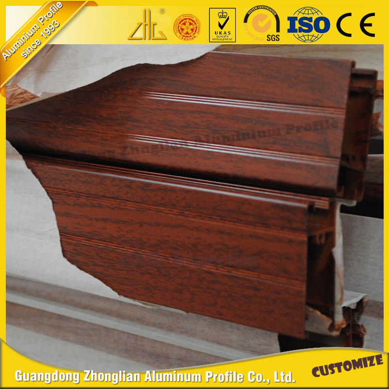 Manufacturer Wood Grain Aluminum Silding Window and Door