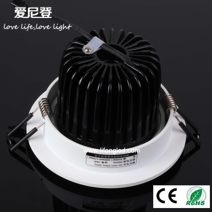 Ce RoHS Approved 18W LED COB Downlight Super Brightness Ceiling Downlight