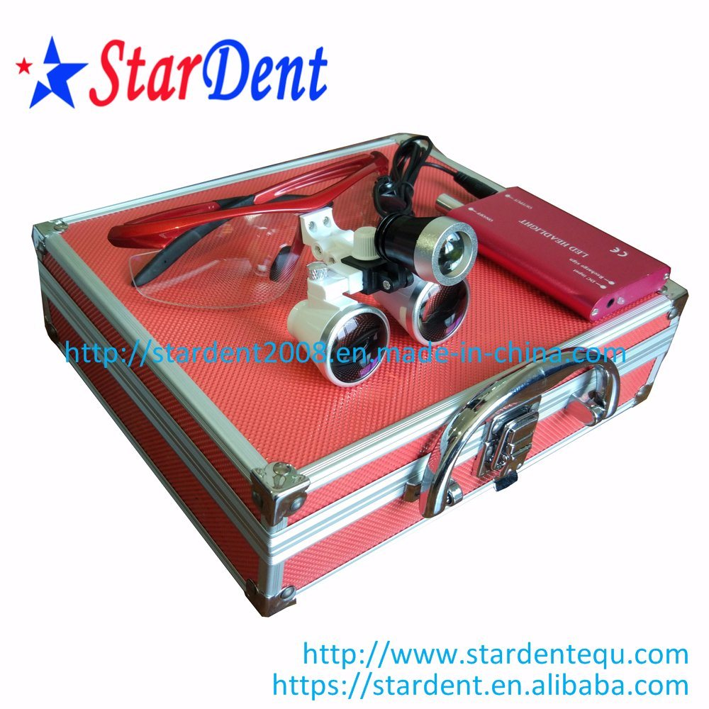 2.5/3.5X Color Magnification Binocular Loupes of Dental Hospital Medical Lab Surgical Diagnostic Equipment