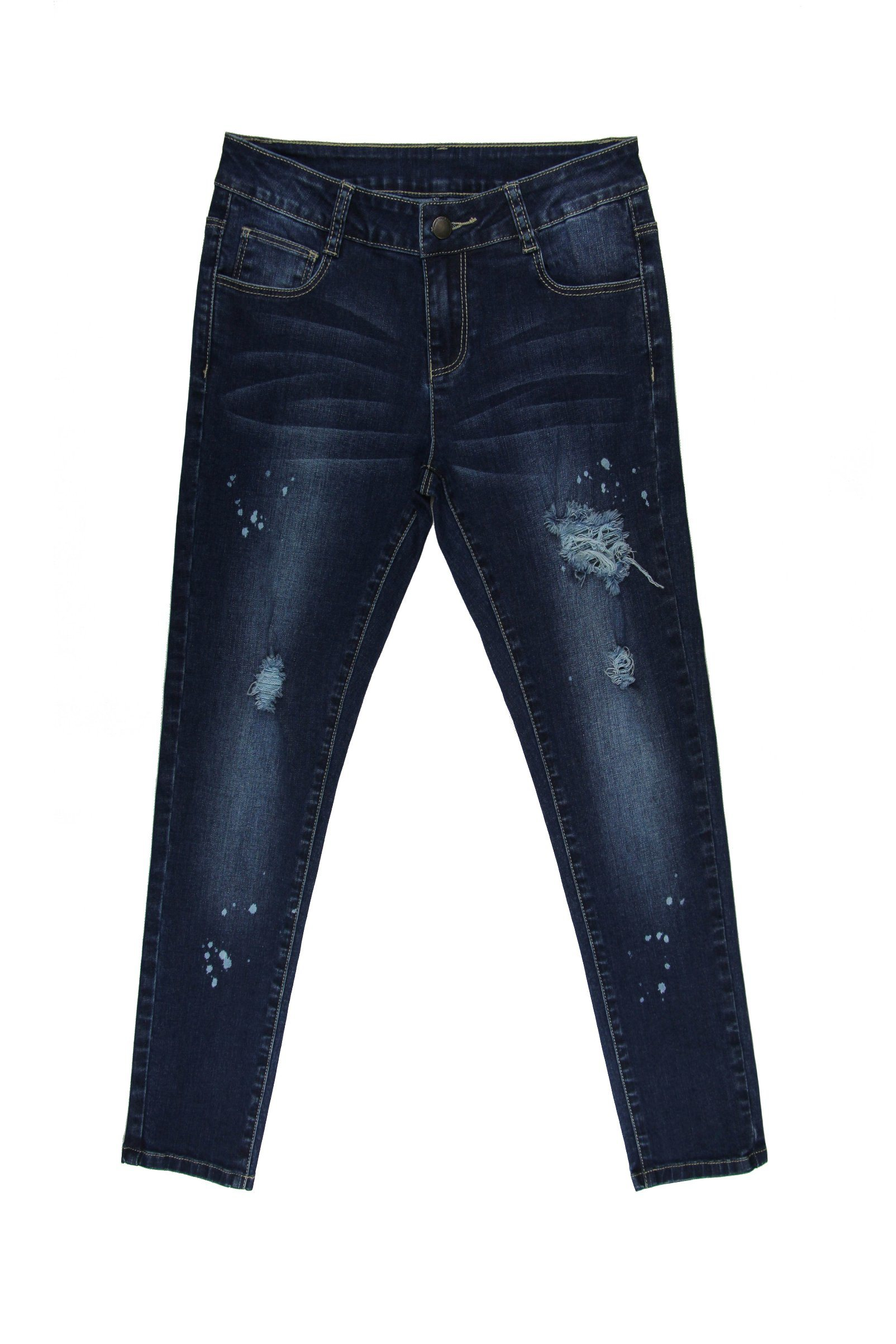 2017 Lady′s Print Washing Skinny Fashion Jeans (MYB07)