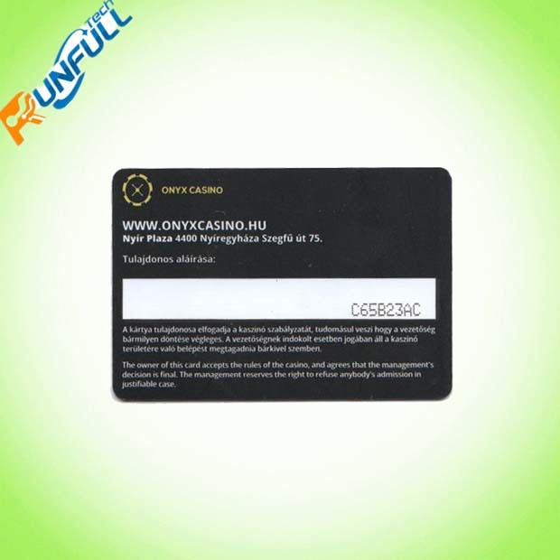 Plastic PVC Material Cr80 Size Signature Stripe Card with Customize Printing