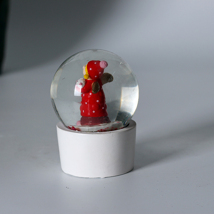 Custom Resin Christmas Elf Mini Snow Globe as Promotional